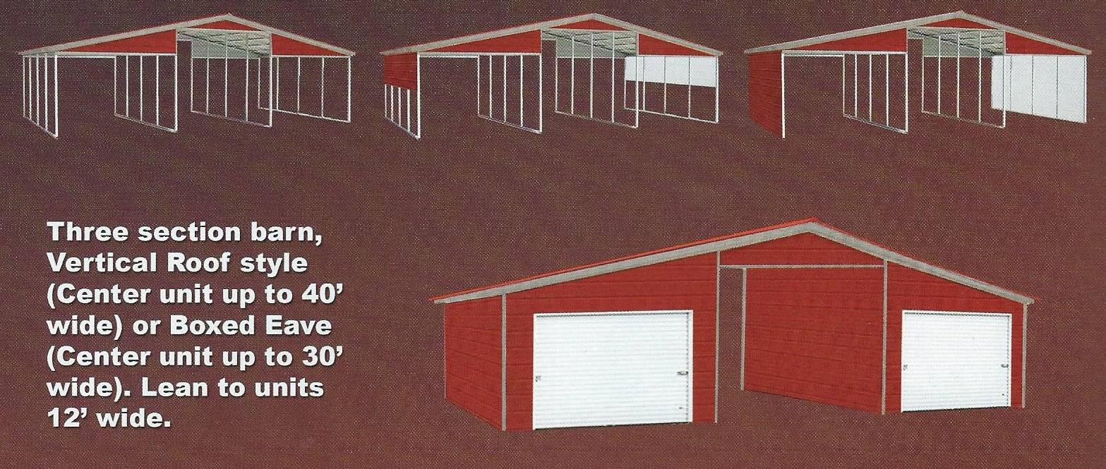 Senica Style Barn-Vertical Style Roof