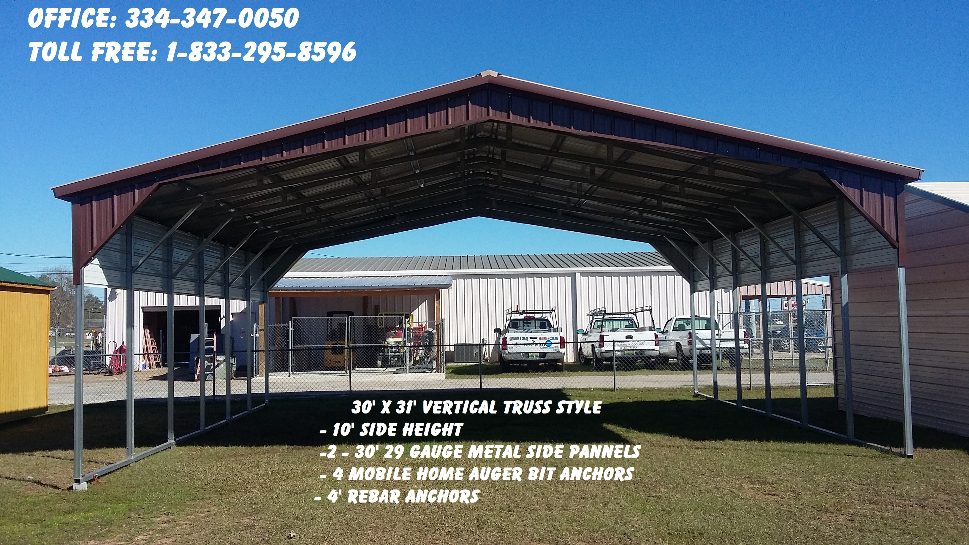 30' x 31' A Frame Triple Wide with 10' side height